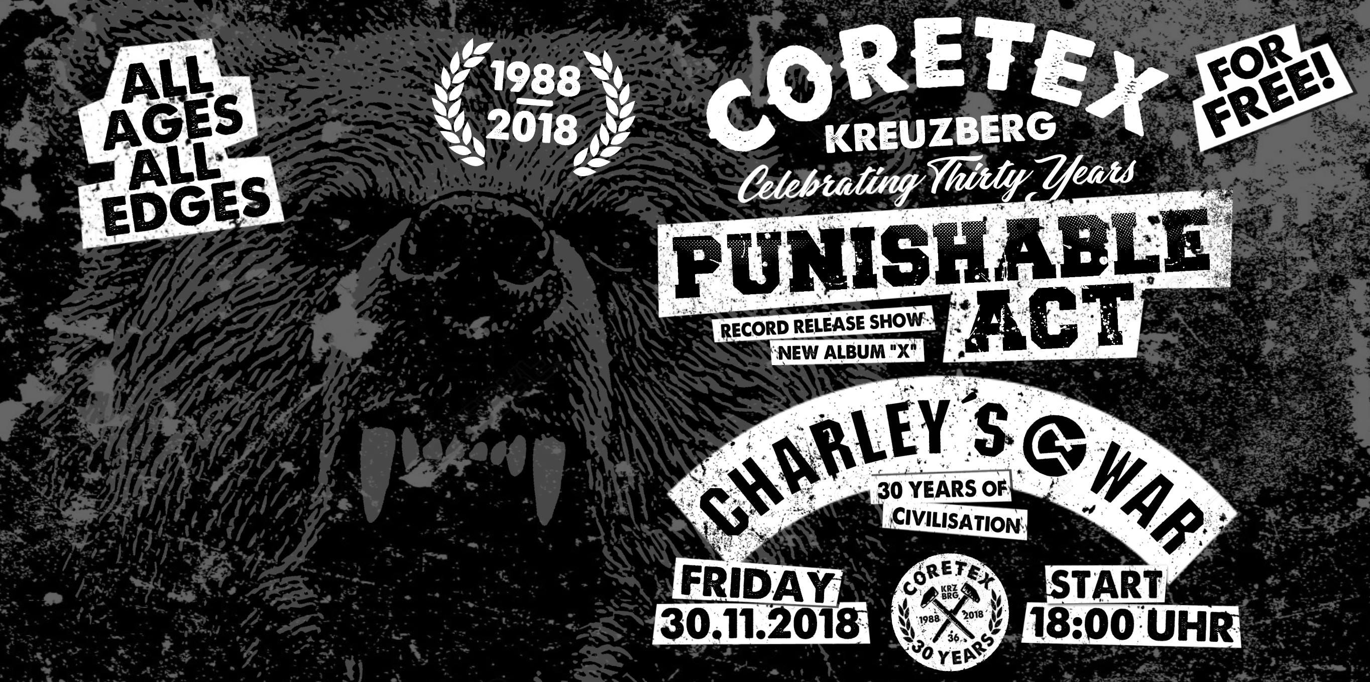 PUNISHABLE ACT & CHARLEY'S WAR IM CORETEX!